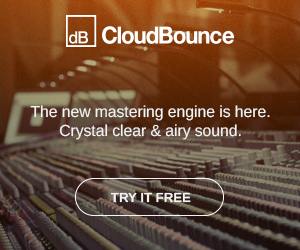 CloudBounce Mastering - Crystal clear & Airy sound. Try it free.